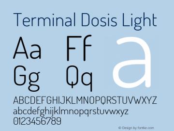 Terminal Dosis Light Version 1.007 Font Sample