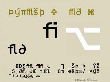 Typestar Medium Version 001.000 Font Sample