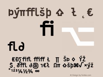 Typestar Black Version 001.000 Font Sample