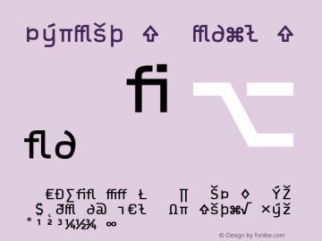 Typestar Regular Version 001.000 Font Sample