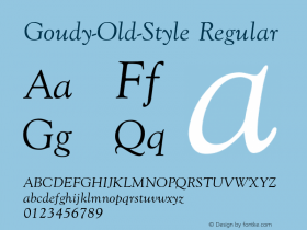 Goudy-Old-Style Regular Converted from U:\HOME\PEARCE\AT\TTFONTS\ST000037.TF1 by ALLTYPE Font Sample