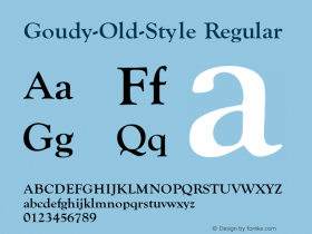 Goudy-Old-Style Regular Converted from e:\aff07\GOUDY-OL.FF1 by ALLTYPE Font Sample