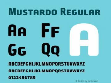 Mustardo Regular Version 001.000 Font Sample