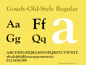 Goudy-Old-Style Regular Converted from U:\HOME\PEARCE\AT\TTFONTS\ST000035.TF1 by ALLTYPE Font Sample