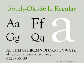 Goudy-Old-Style Regular Converted from U:\HOME\PEARCE\AT\TTFONTS\ST000036.TF1 by ALLTYPE Font Sample
