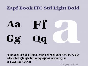 Zapf Book ITC Std Light Bold Version 1.000;PS 001.000;hotconv 1.0.38图片样张