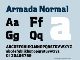 Armada Normal Macromedia Fontographer 4.1 17.06.1995图片样张