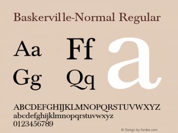 Baskerville-Normal Regular Converted from C:\TTFONTS\BASKVL.TF1 by ALLTYPE Font Sample