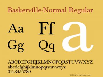 Baskerville-Normal Regular Converted from C:\TT\BASKVL.TF1 by ALLTYPE Font Sample