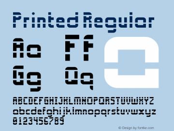 Printed Regular Version 1.0 Font Sample