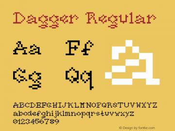 Dagger Regular Macromedia Fontographer 4.1.5 10/24/03 Font Sample