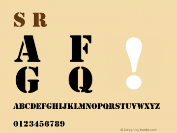 Stencil Regular Converted from U:\HOME\PEARCE\AT\TTFONTS\ST000062.TF1 by ALLTYPE图片样张