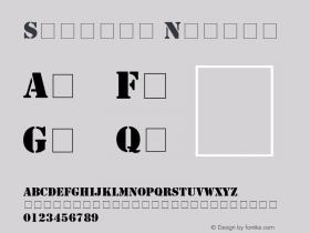 Stencil Normal 11 DEC 89 Font Sample