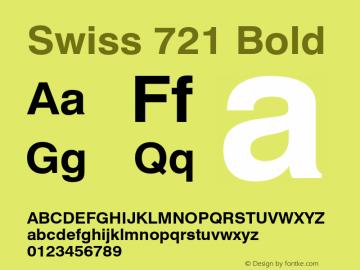 Swiss 721 Bold 2.0-1.0 Font Sample
