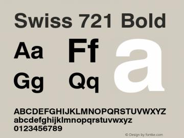 Swiss 721 Bold 003.001 Font Sample