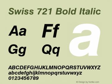 Swiss 721 Bold Italic 003.001 Font Sample