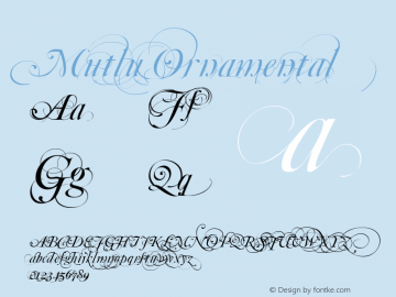 Mutlu Ornamental Macromedia Fontographer 4.1.5 23/07/02 Font Sample