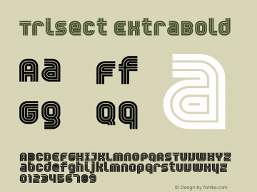 Trisect ExtraBold version 1.00图片样张