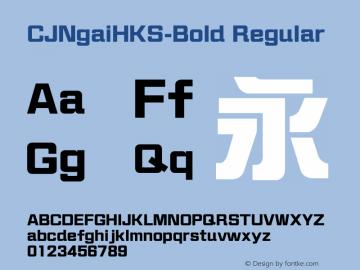 CJNgaiHKS-Bold Regular Version 1.10图片样张
