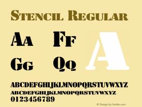 Stencil Regular 001.001 Font Sample