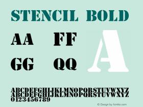 Stencil Bold 1.0 Font Sample