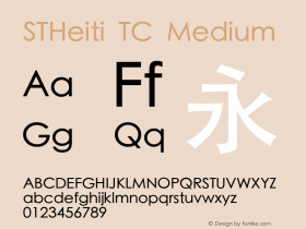 STHeiti TC Medium 6.1d23e5图片样张