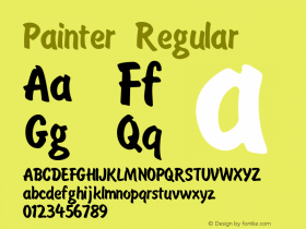 Painter Regular Unknown Font Sample