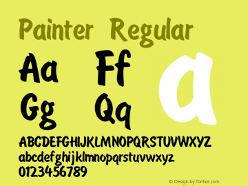 Painter Regular Unknown Font Sample