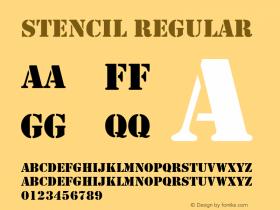 Stencil Regular Altsys Fontographer 3.5  4/13/93 Font Sample