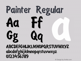 Painter Regular Version 1.0 Font Sample