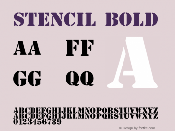 Stencil Bold 1.0图片样张