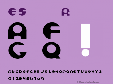 ESpheres Regular Converted from C:\TEMP4\ESPHERE.TF1 by ALLTYPE Font Sample