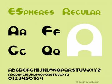 ESpheres Regular 001.001 Font Sample