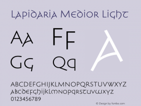 Lapidaria Medior Light Version 1.000 Font Sample