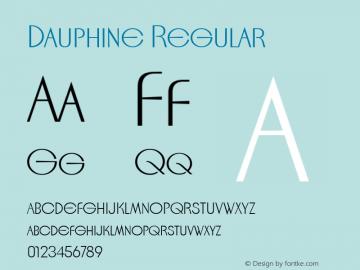Dauphine Regular Macromedia Fontographer 4.1.5 12/14/04图片样张