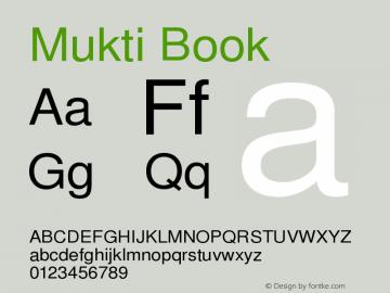 Mukti Book Version 1.99.1 February 14,2 Font Sample