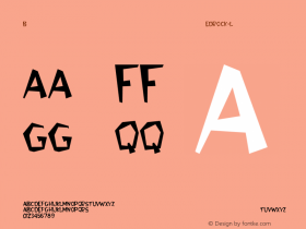 Bedrock-Light Regular Converted from C:\WINDOWS\SYSTEM\BEDROCK.TF1 by ALLTYPE Font Sample