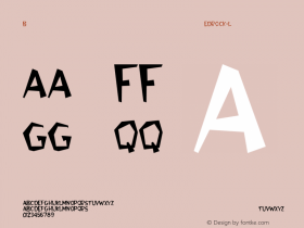 Bedrock-Light Regular Converted from C:\WIN\SYSTEM\BEDROCK.TF1 by ALLTYPE Font Sample