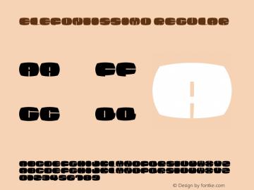 EleFontissimo Regular 1.0 25-05-2002 Font Sample