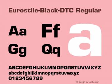 eurostile-black-dtc font