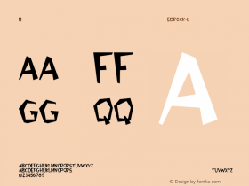 Bedrock-Light Regular Converted from C:\WINDOWS\FONTS\BEDROCK.TF1 by ALLTYPE Font Sample