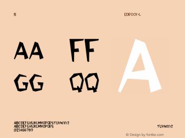 Bedrock-Light Regular Converted from C:\WINDOWS\FONTS\BEDROCK.TF1 by ALLTYPE Font Sample
