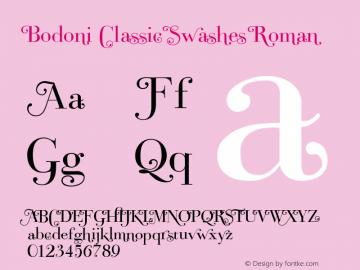 Bodoni Classic Swashes Font,Bodoni Classic Roman Swashes PDF