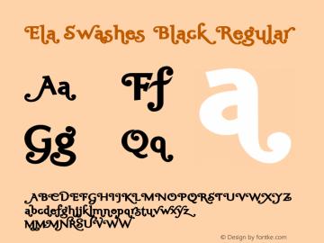 Ela Swashes Black Regular PDF Extract图片样张