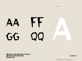 Bedrock-Light Regular Converted from C:\WIN\SYSTEM\BEDROCK.TF1 by ALLTYPE Font Sample