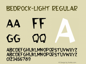 Bedrock-Light Regular Converted from C:\TEMP\BEDROCK.TF1 by ALLTYPE Font Sample