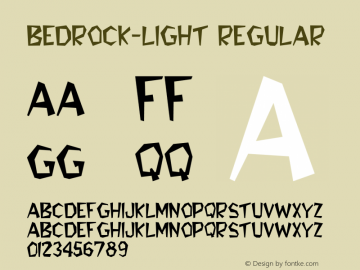 Bedrock-Light Regular Converted from C:\TEMP\BEDROCK.TF1 by ALLTYPE Font Sample