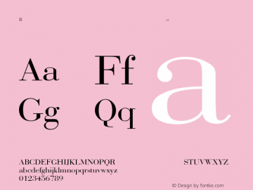 Bodoni-Normal Regular Converted from C:\WINDOWS\SYSTEM\BODONI.TF1 by ALLTYPE Font Sample