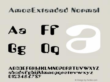 AmosExtended Normal Macromedia Fontographer 4.1.2 8/23/99 Font Sample