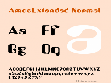 AmosExtended Normal Macromedia Fontographer 4.1 6/28/96 Font Sample